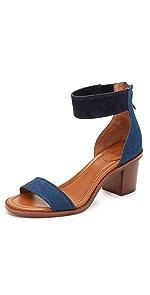 Brielle Back Zip Sandals                Frye