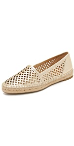 Lee A Line Perforated Espadrilles                Frye