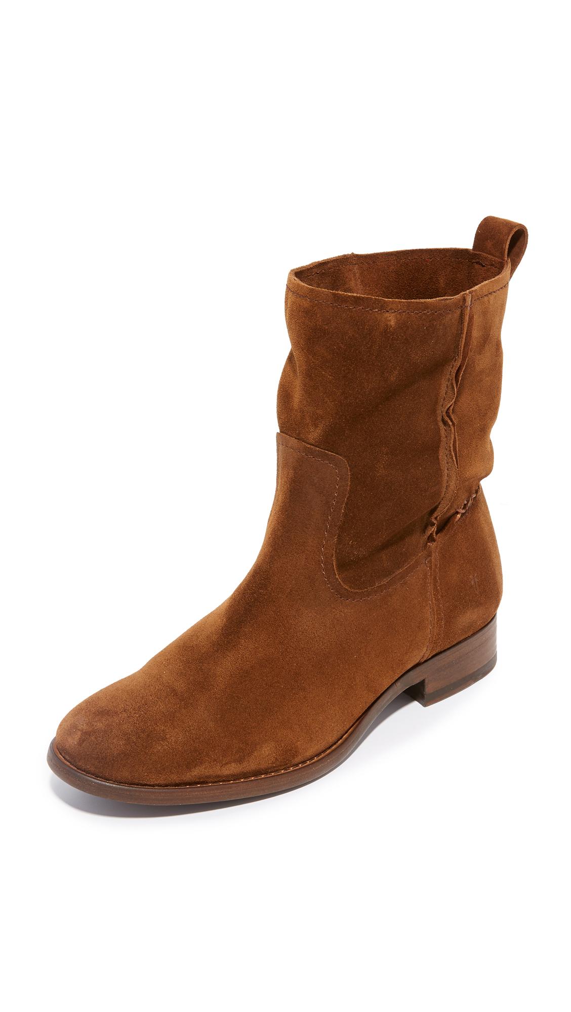 Frye Cara Short Boots - Wood
