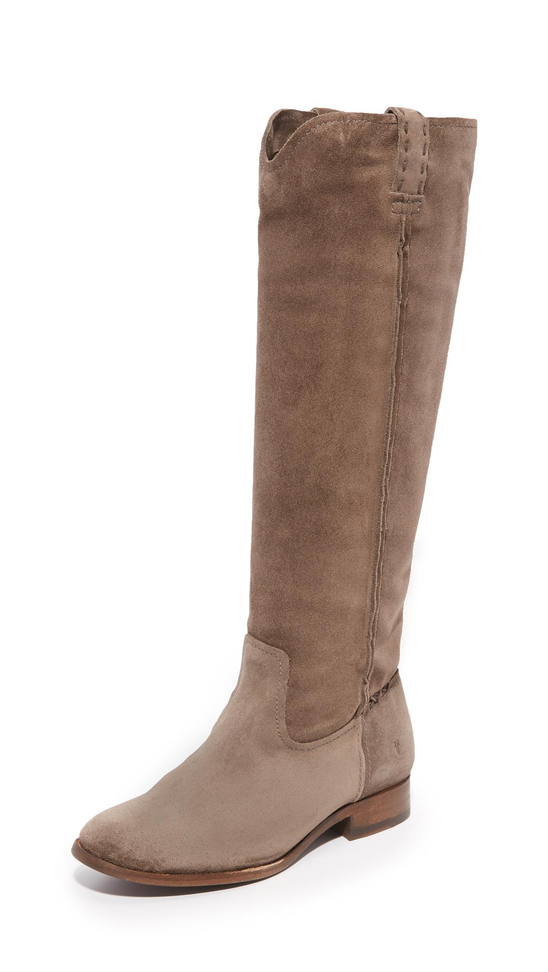 Frye Cara Tall Boots - Elephant