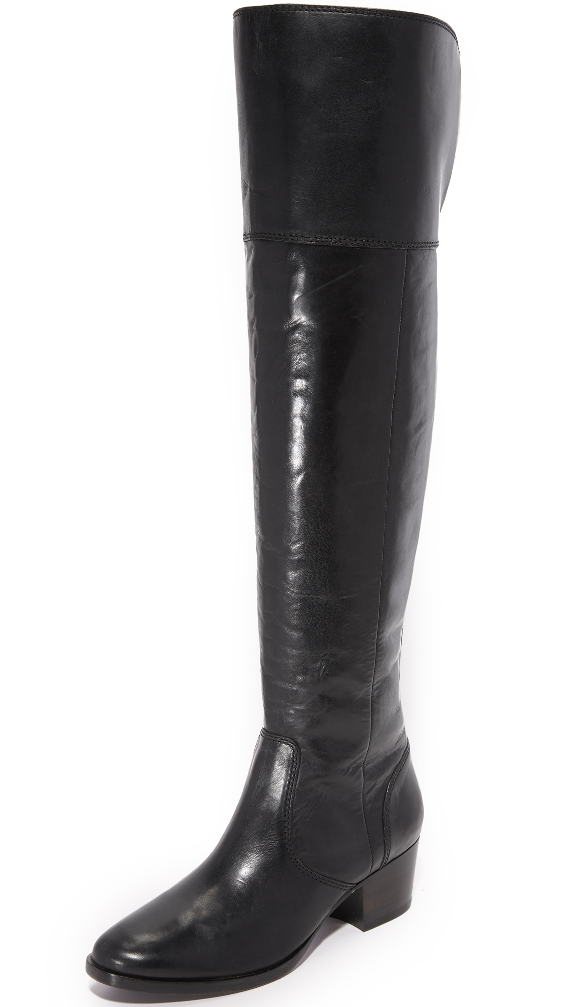 Frye Clara Over The Knee Boots - Black
