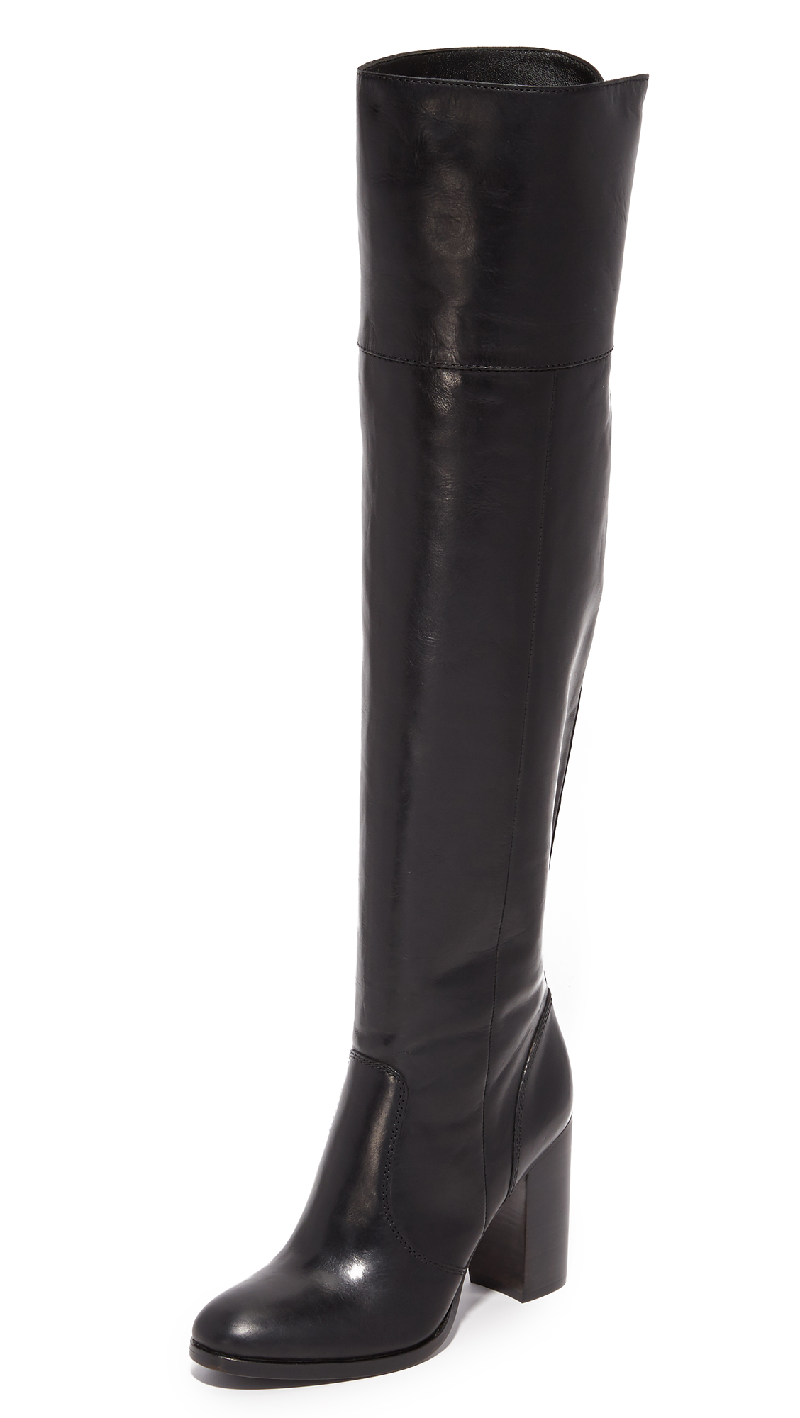 Frye Claude Over The Knee Boots - Black