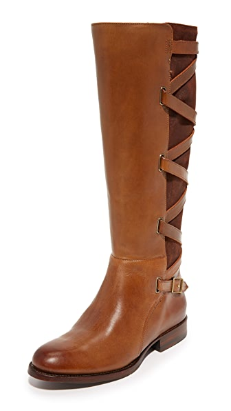 Frye Jordan Strappy Tall Boots - Wood