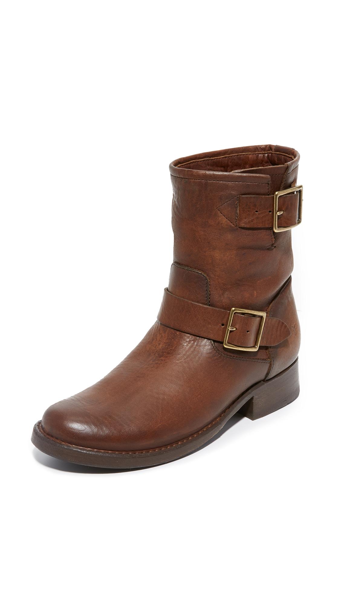 Frye Vicky Engineer Boots - Dark Brown