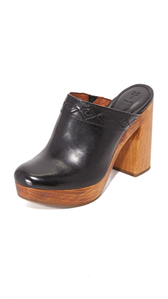 Frye Emily Clogs - Black at Shopbop