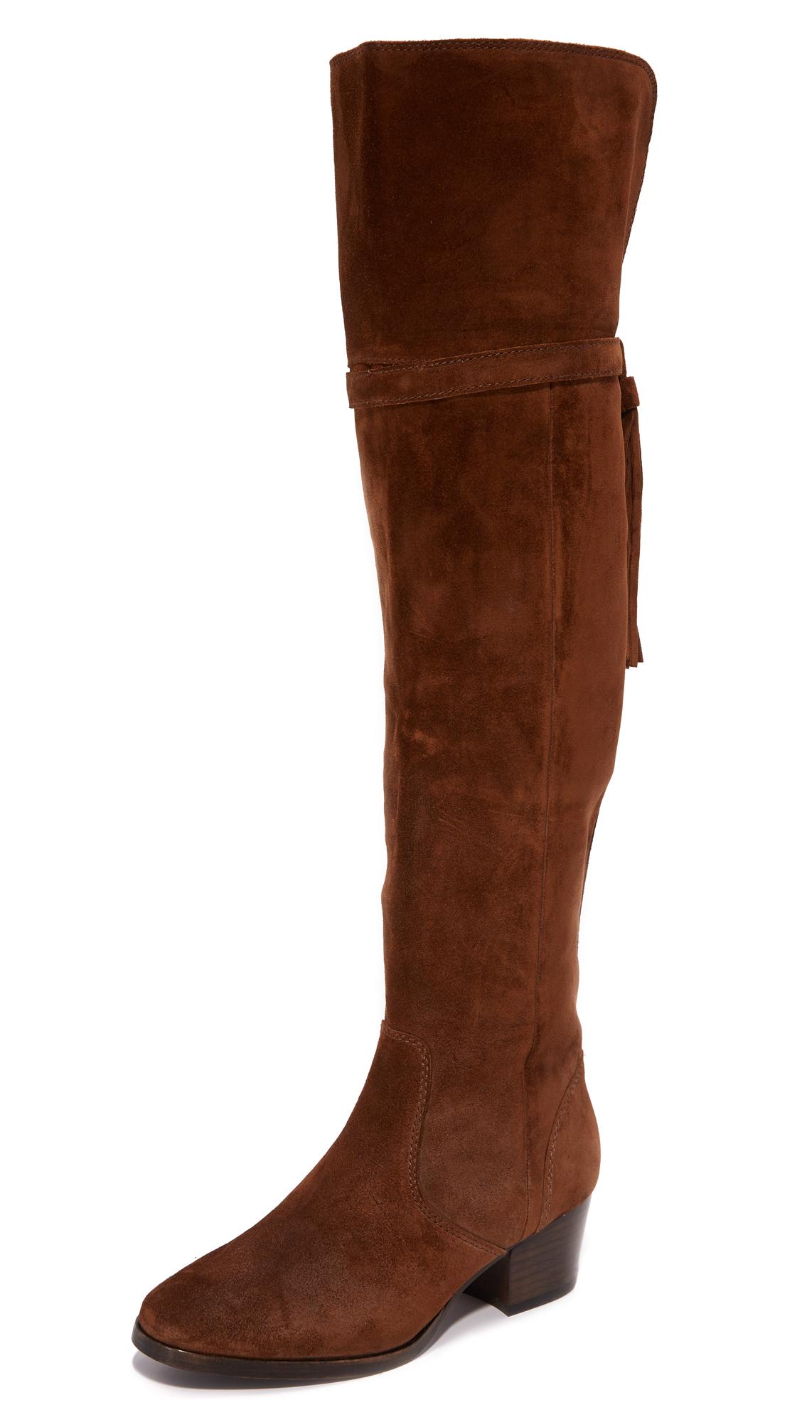 Frye Clara Tassel Over The Knee Boots - Wood
