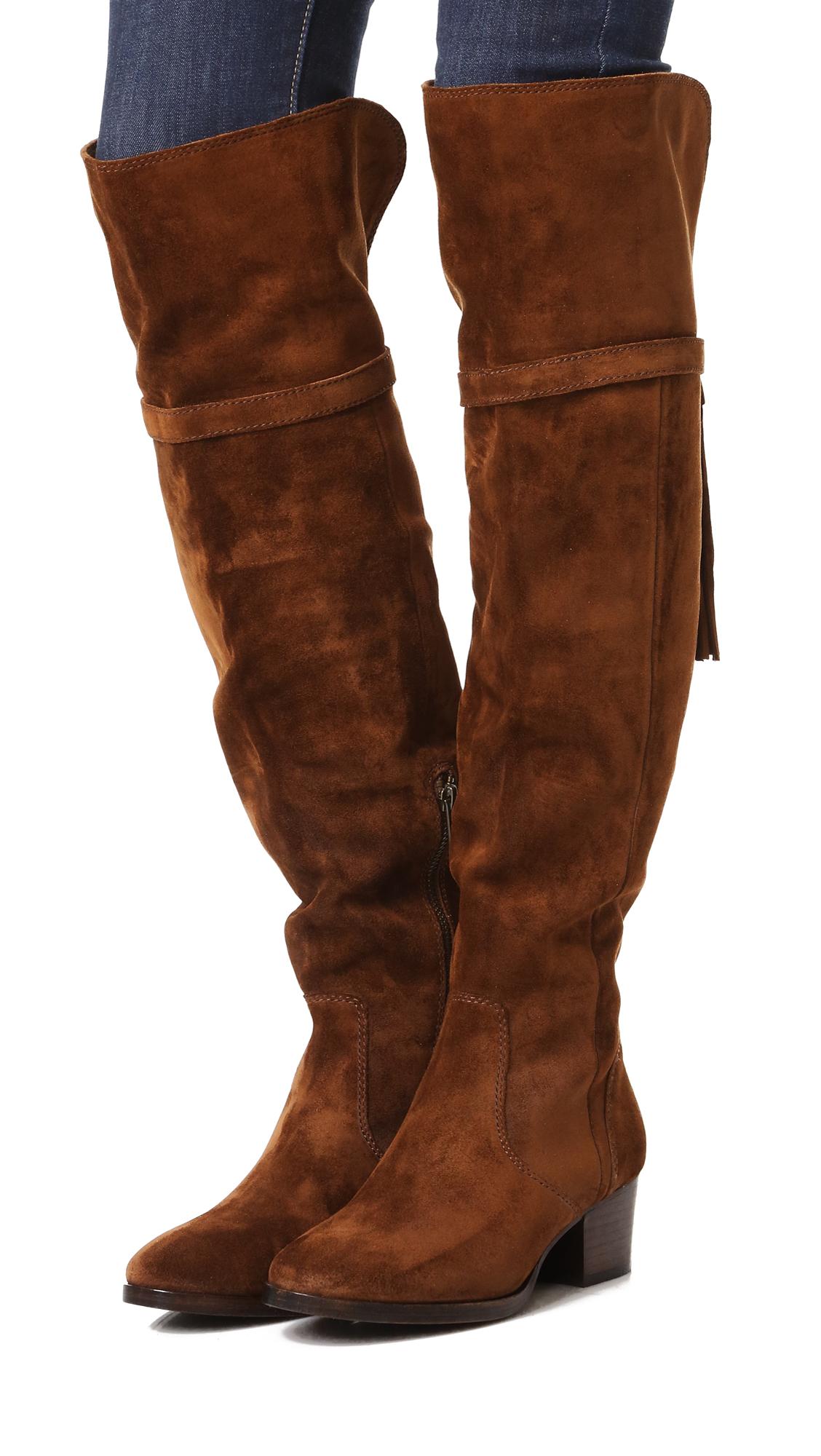 748640ed819 Frye Clara Tassel Over the Knee Boots