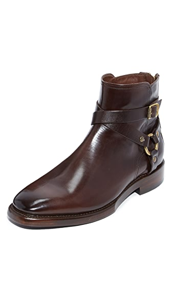 Frye Weston Cross Strap Boots