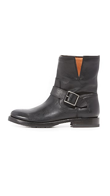 Frye Natalie Short Engineer Booties