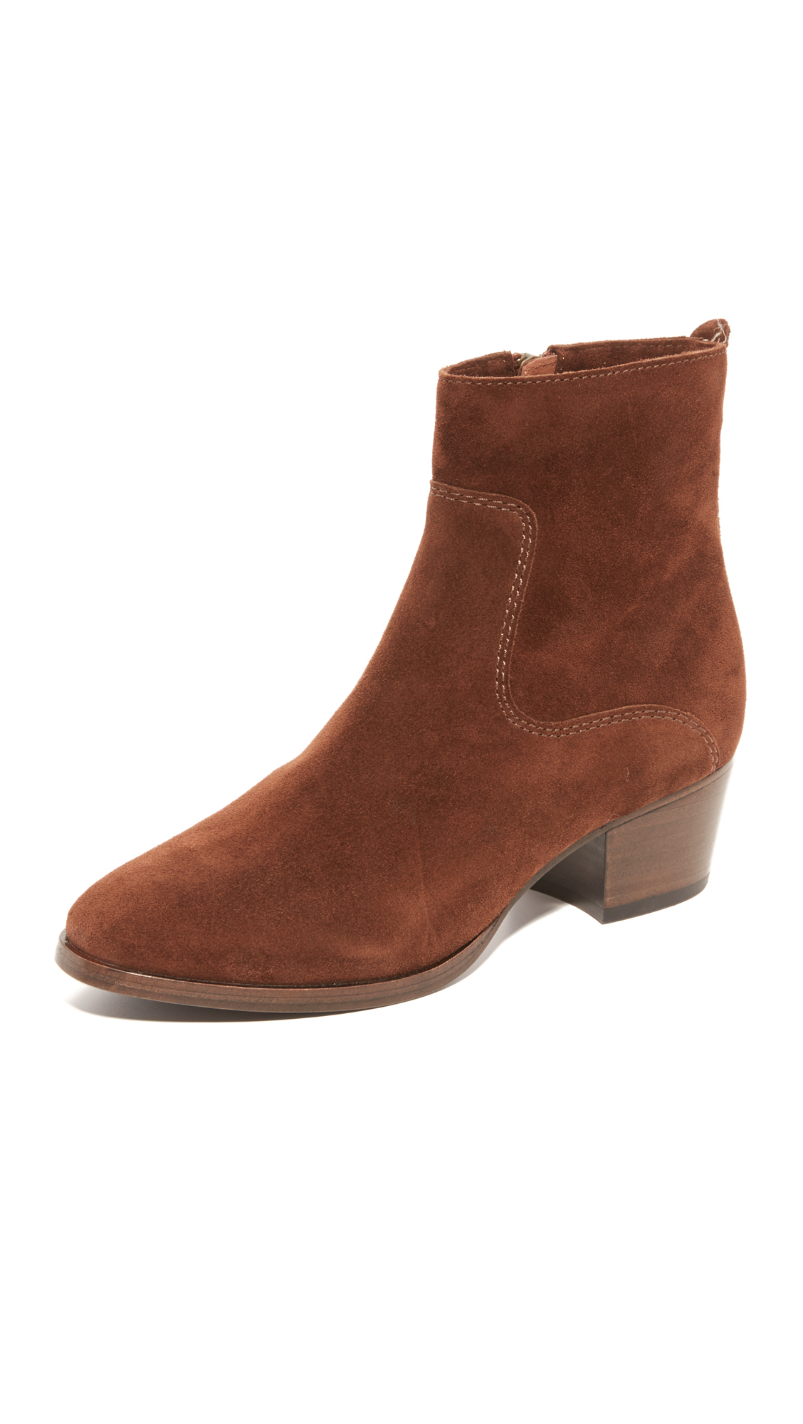 Frye Clara Zip Short Booties - Brown