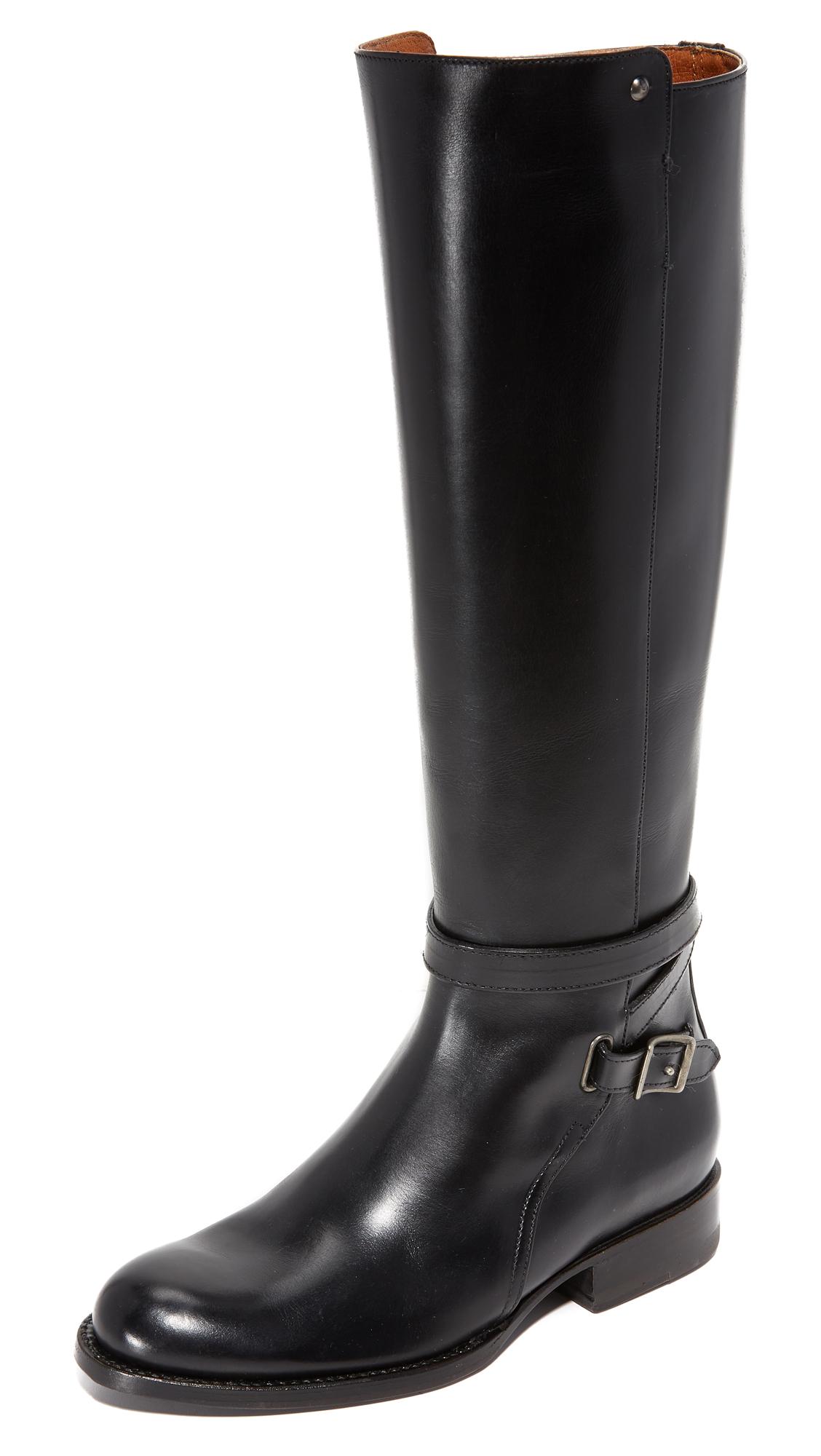 Frye Jordan Strappy Tall Boots - Black