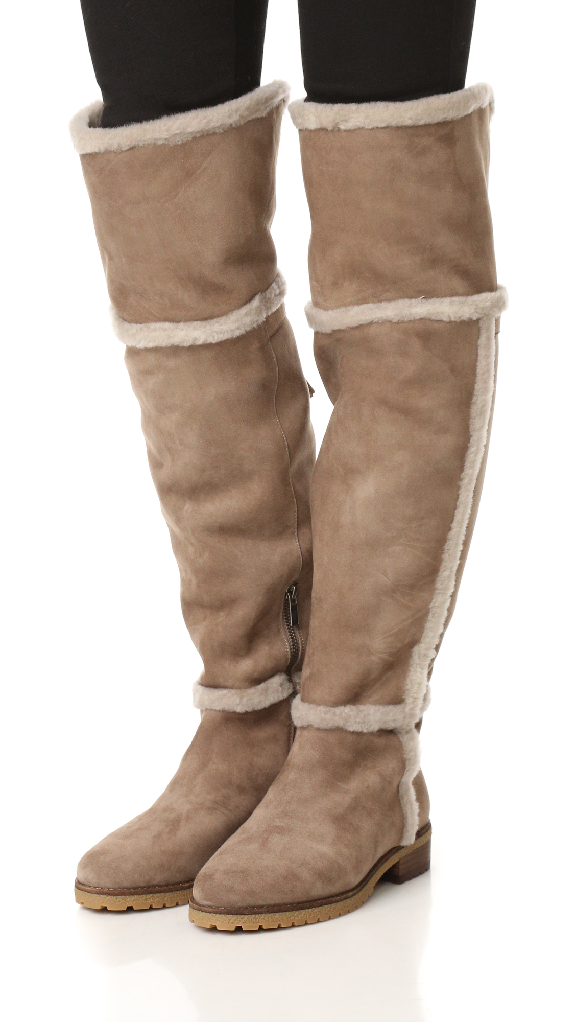 389d0c28cd6 Frye Tamara Shearling Over The Knee Boots