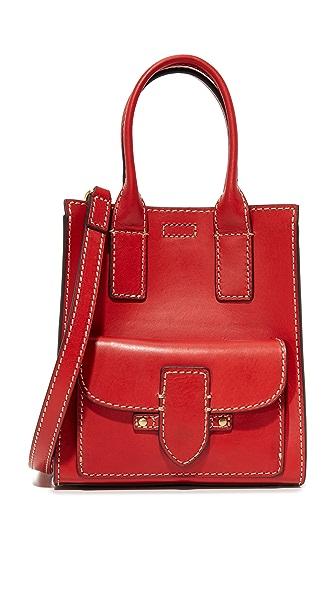 Frye Миниатюрная объемная сумка с короткими ручками Casey North/South