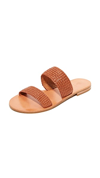 Frye Ruth Woven Wrap Sandals - Cognac
