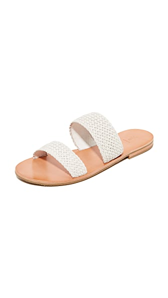 Frye Ruth Woven Wrap Sandals - White