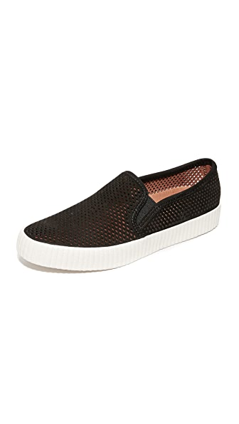 Frye Camille Perforated Slip On Sneakers - Black