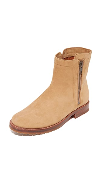 Frye Natalie Double Zip Booties - Sand