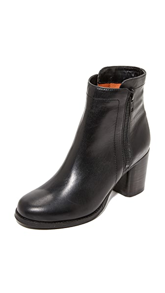 Frye Addie Double Zip Booties - Black