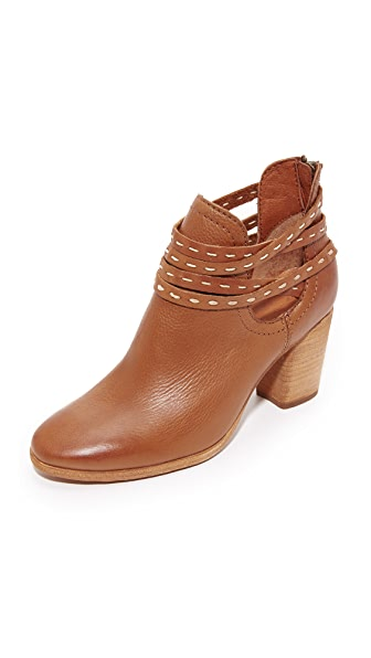 Frye Naomi Pickstitch Booties - Whiskey