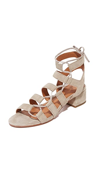 Frye Chrissy Side Ghillie City Sandals - Ash