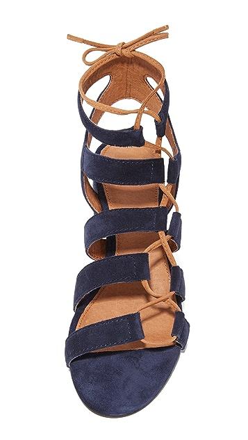 Frye Chrissy Side Ghillie City Sandals