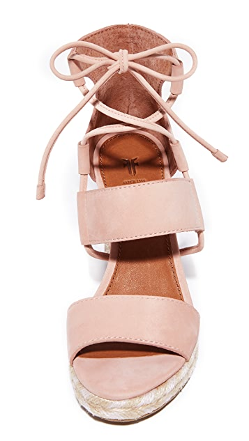 Frye Roberta Ghillie Wedge Sandals