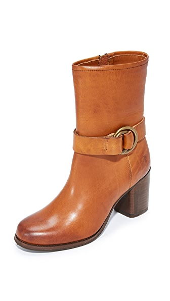 Frye Addie Harness Booties - Brown