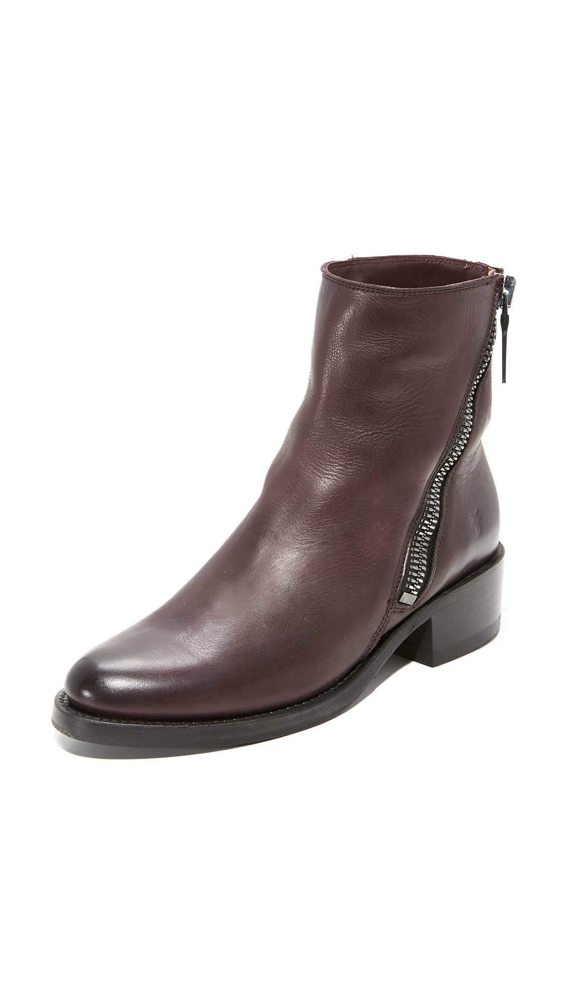 Frye Demi Zip Booties - Wine