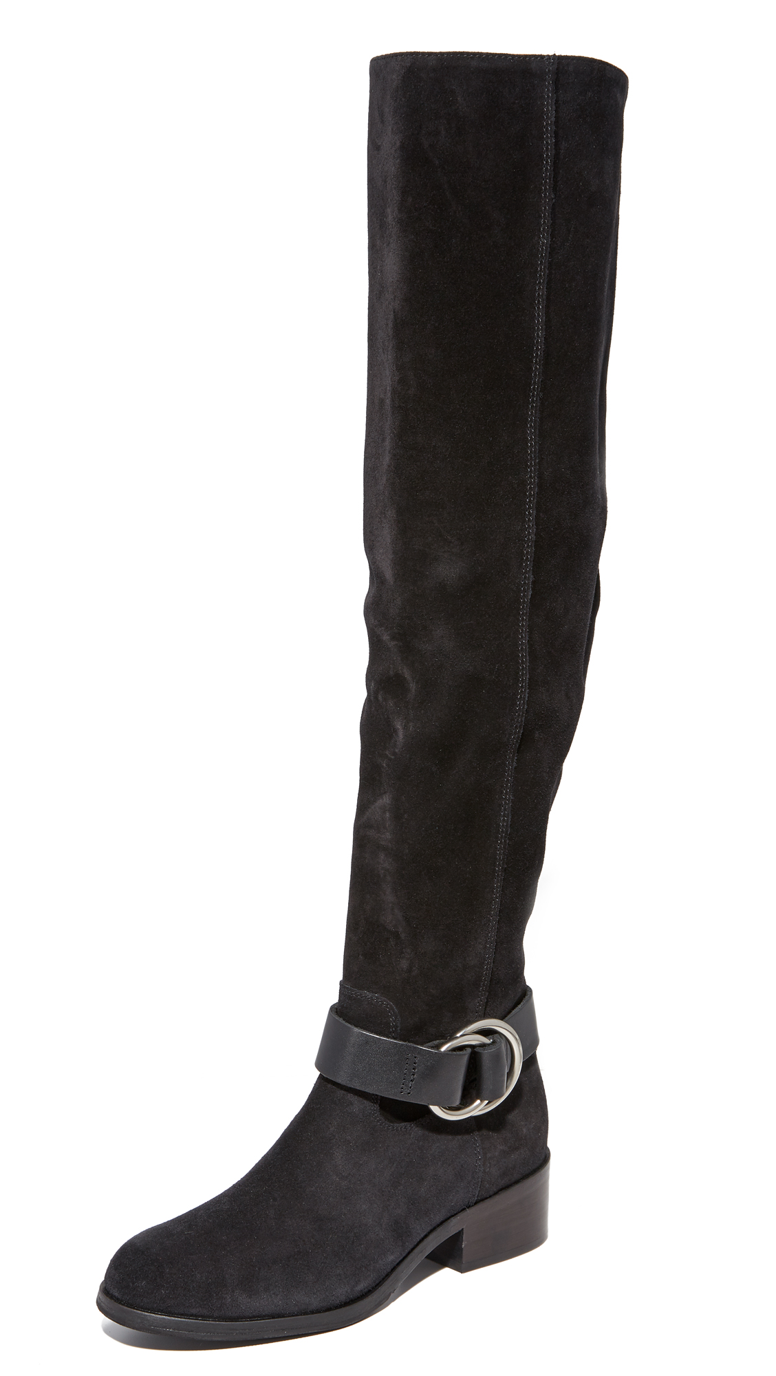 Frye Kristen Harness Over the Knee Boots - Black