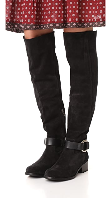 Frye Kristen Harness Over the Knee Boots
