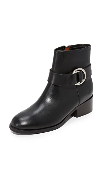 Frye Kristen Harness Short Booties - Black