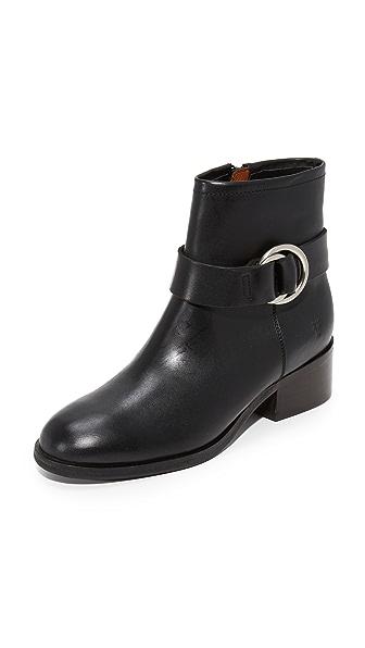 Frye Kristen Harness Short Booties In Black