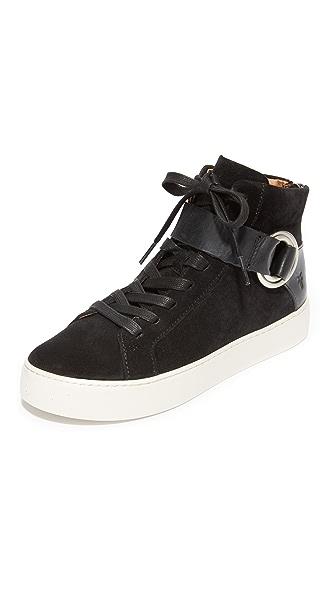 Frye Lena Harness High Top Sneakers - Black