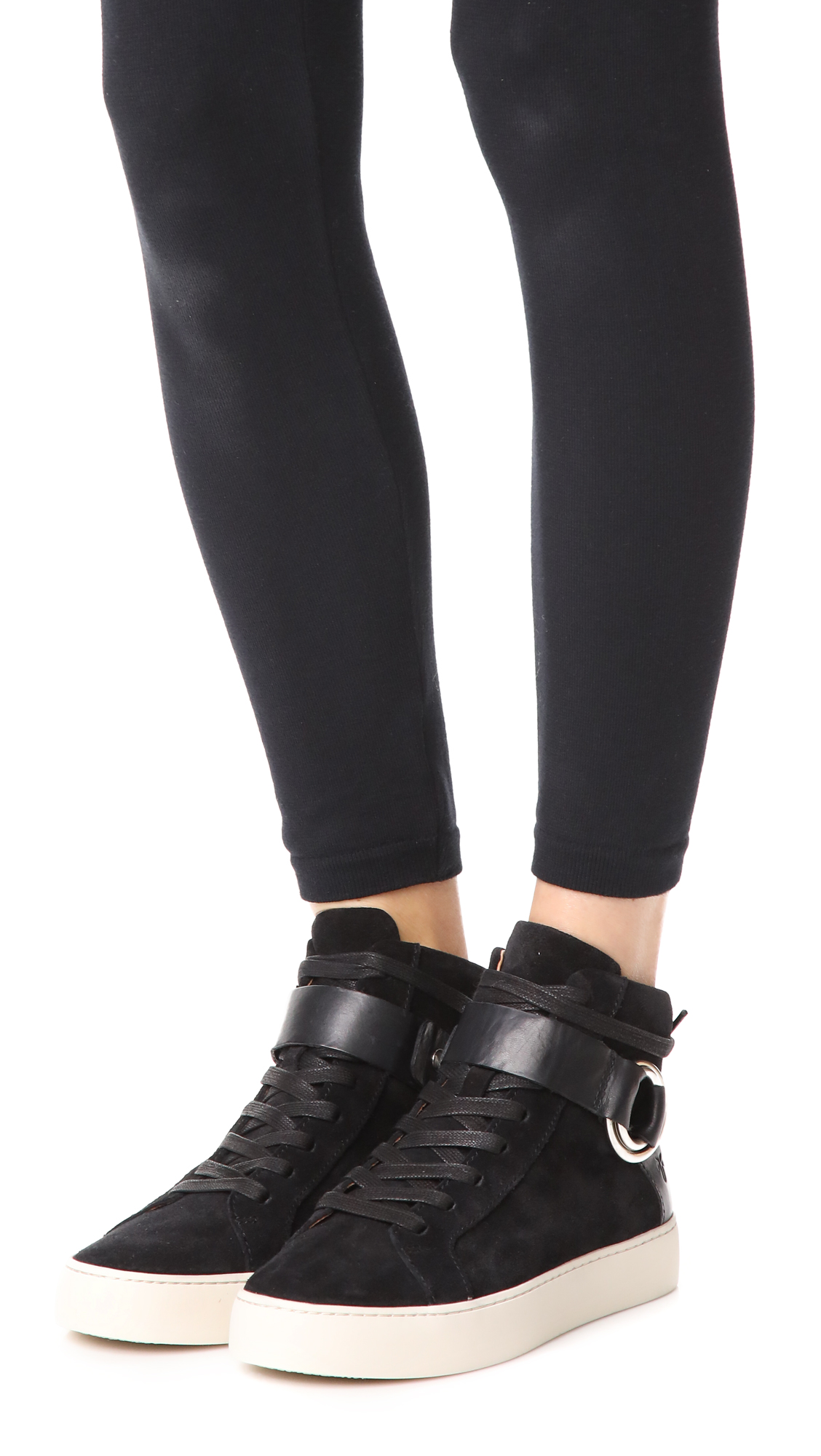 Frye Lena Harness High Sneaker deFSq1l