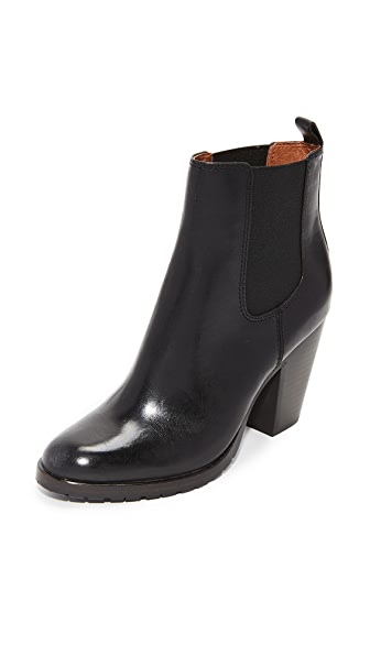 Frye Tate Chelsea Booties In Black