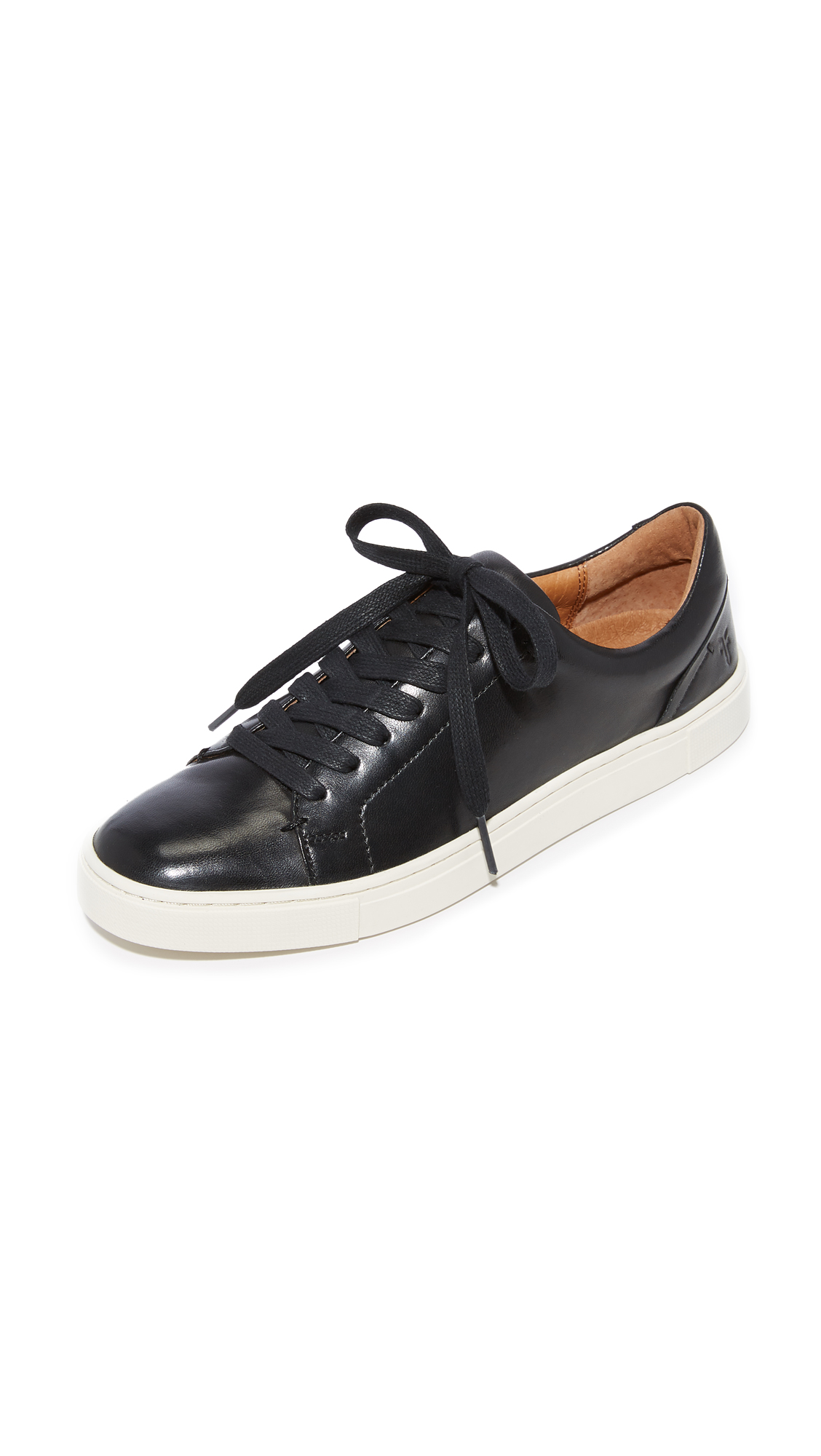 Frye Ivy Low Lace Sneakers - Black