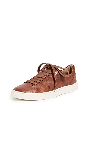 Frye Ivy Low Lace Sneakers In Cognac