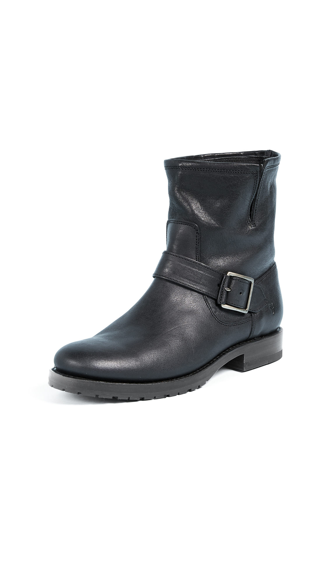Frye Natalie Short Engineer Boots - Black