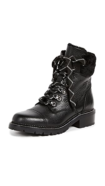 Frye Samantha Hiker Boots In Black