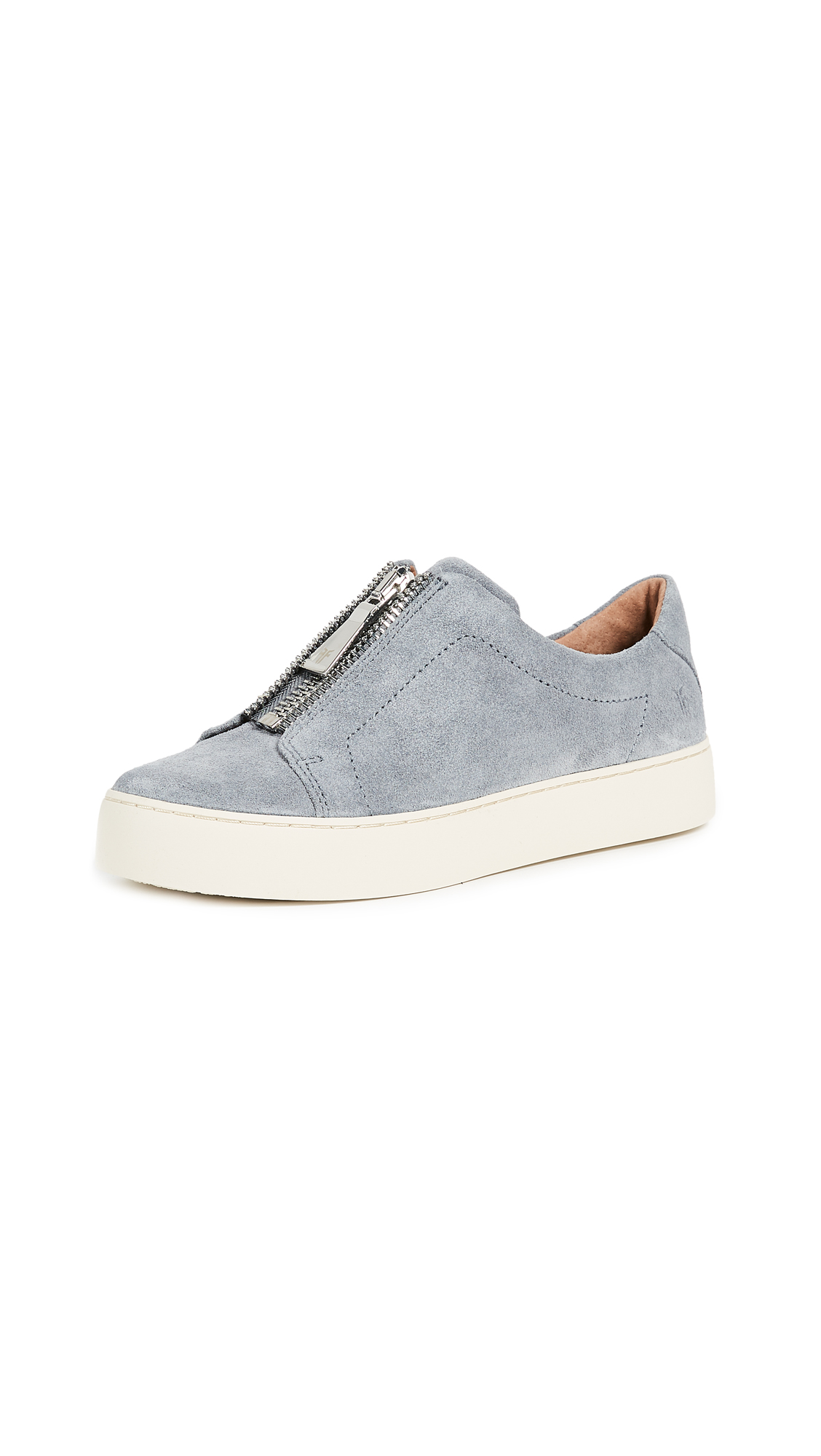 Frye Lena Zip Low Suede Sneakers