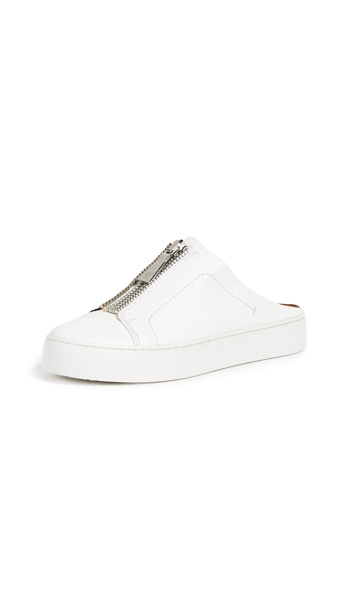 Frye Lena Zip Mule Sneakers - White