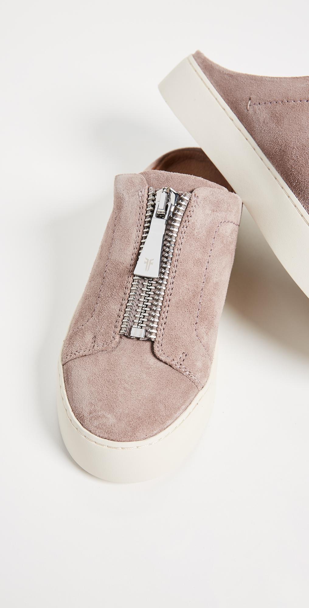 8b4588454101 Frye Lena Zip Mule Suede Sneakers