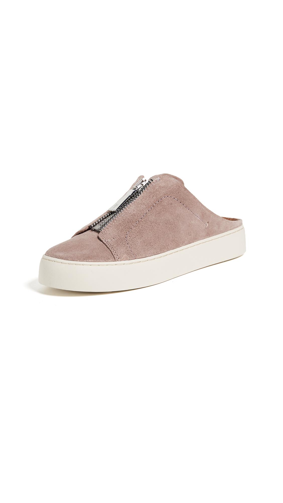 0e9f15b7488 Frye Lena Zip Mule Suede Sneakers In Dusty Rose