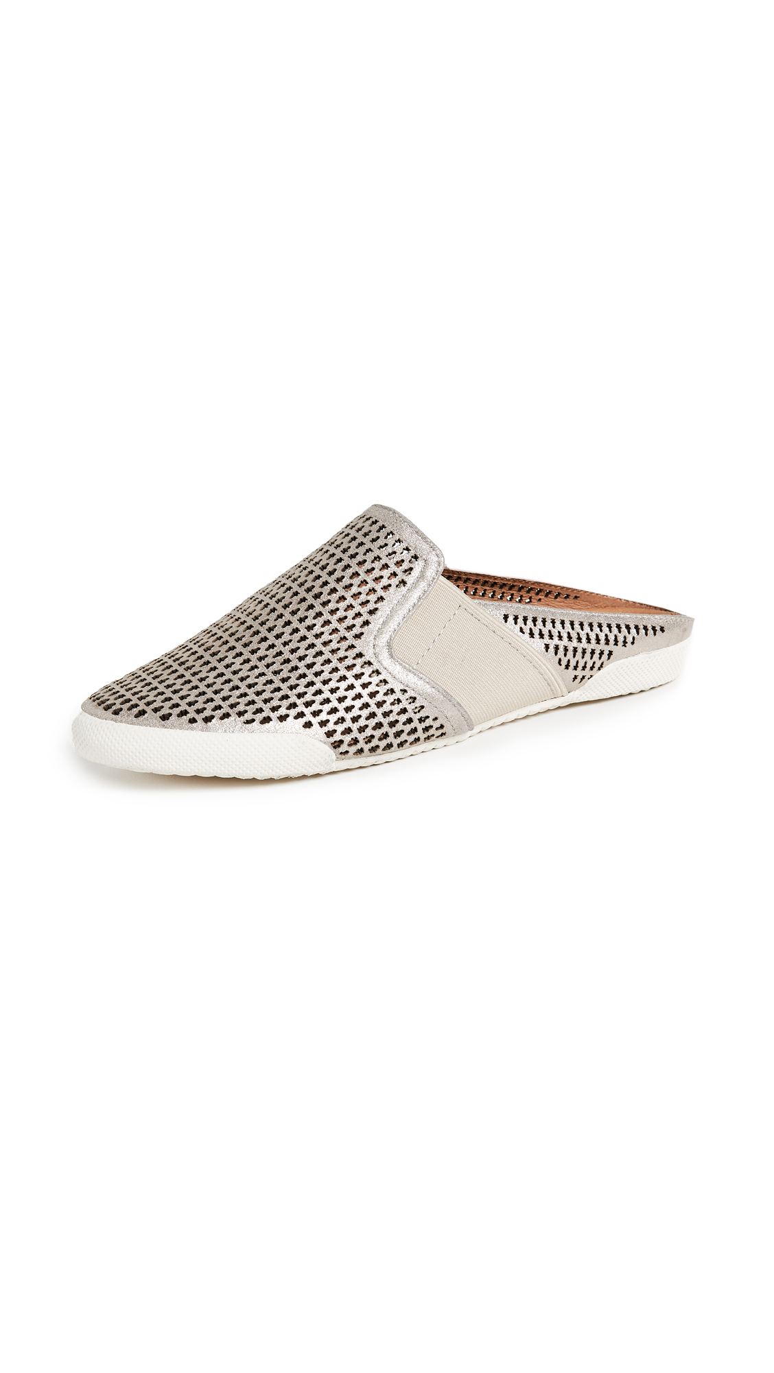 Frye Melanie Perforated Mules - Silver
