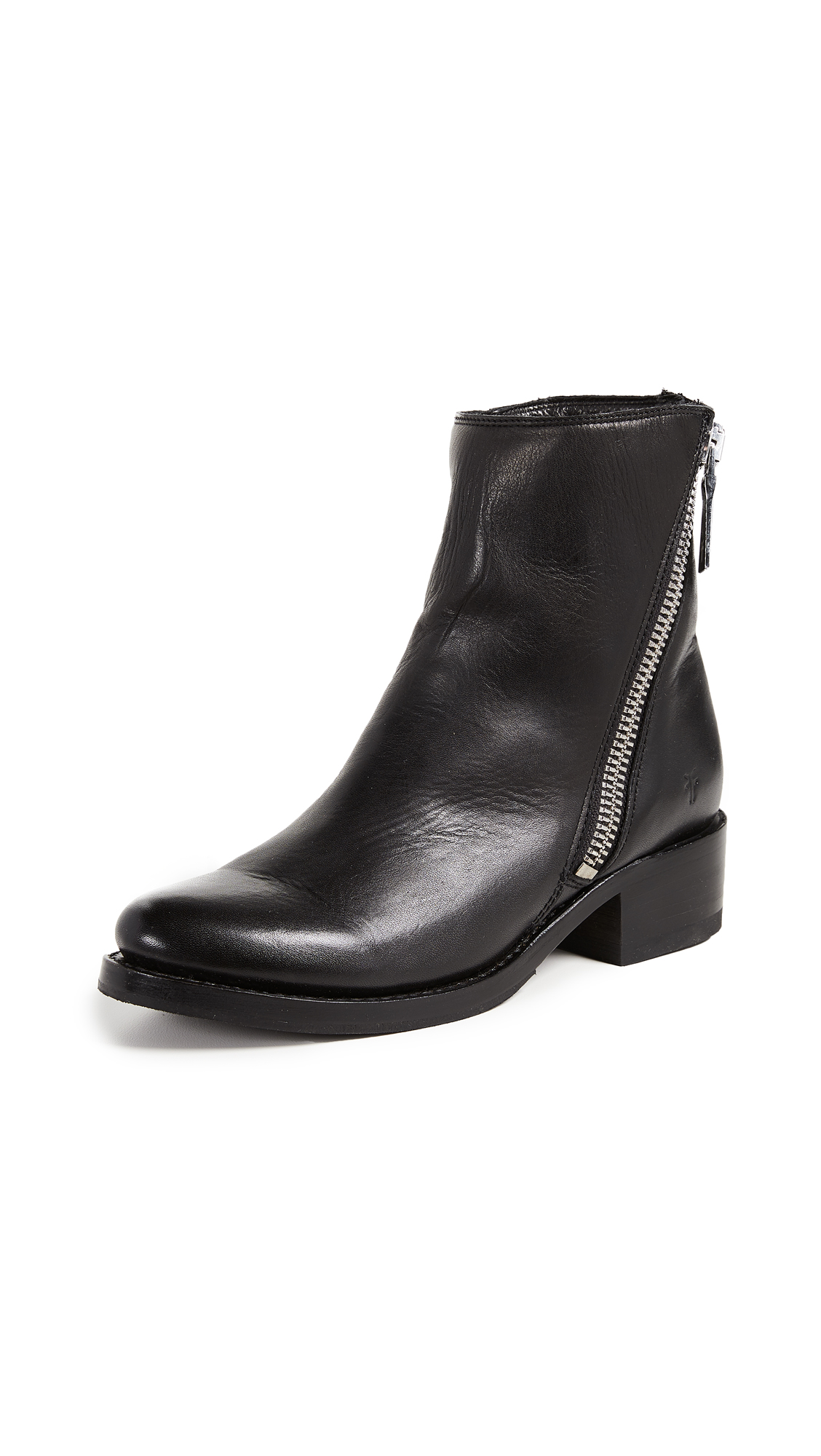 Frye Demi Zip Boots - Black