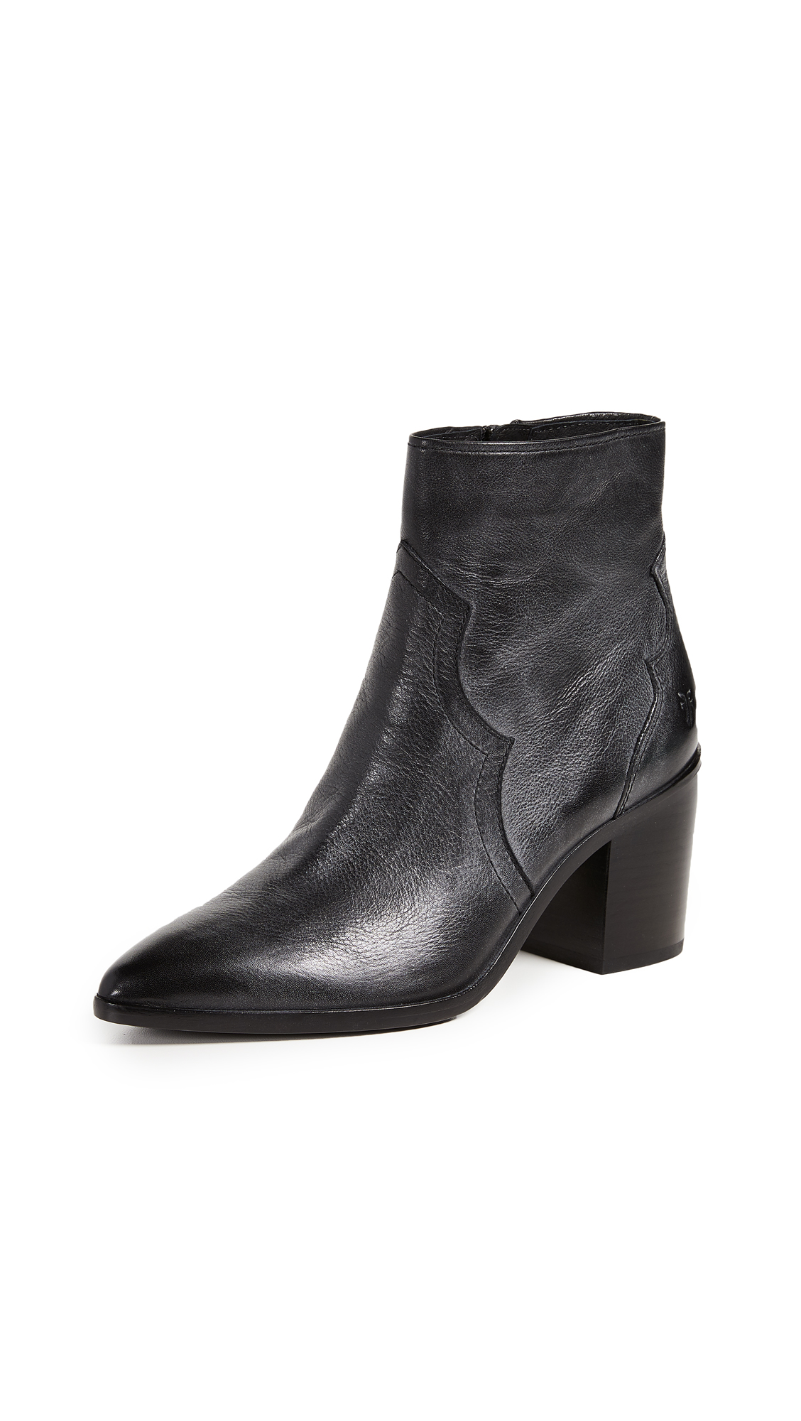Frye Flynn Inside Zip Boots - Black