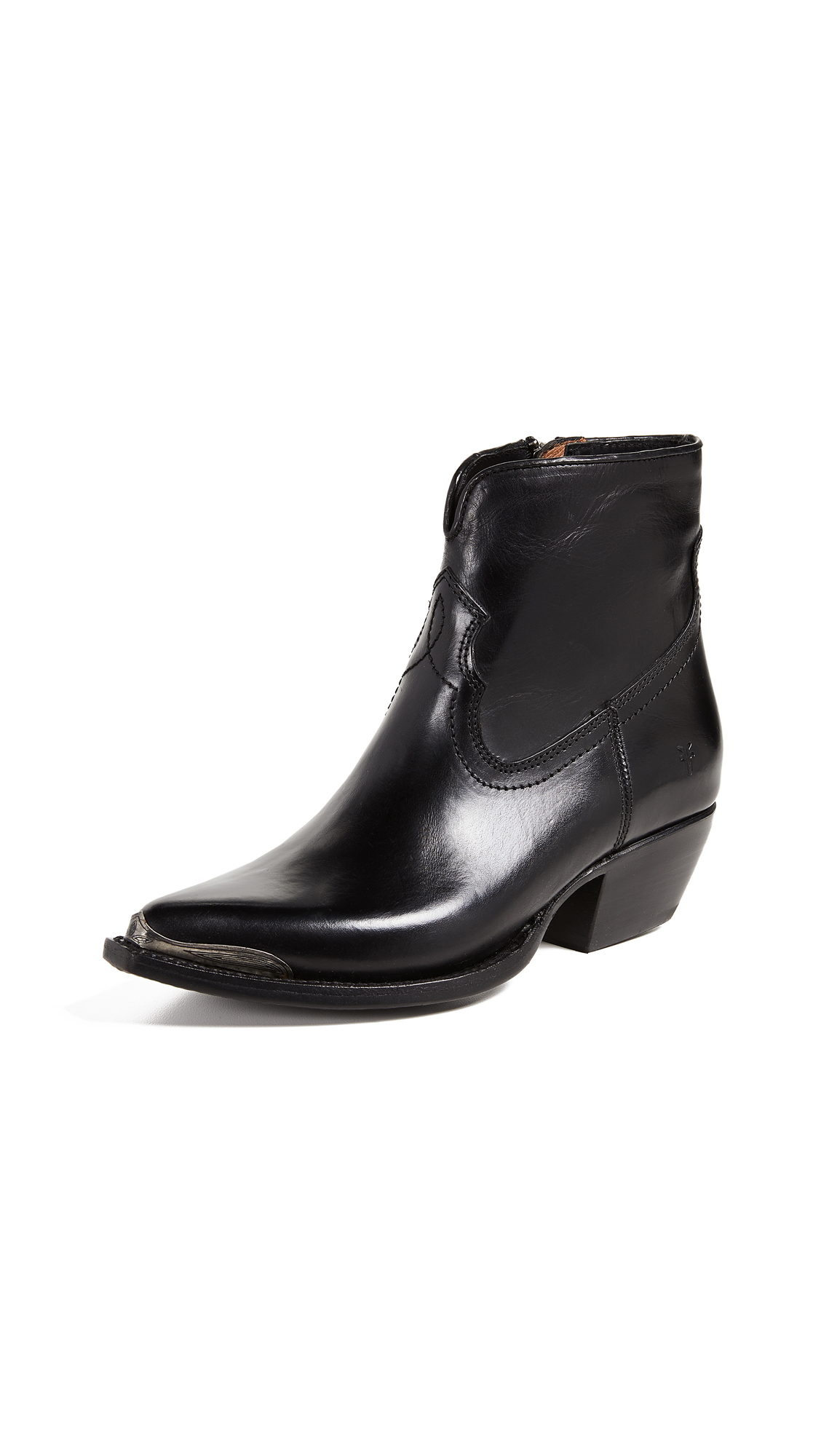 Frye Shane Tip Short Boots In Black