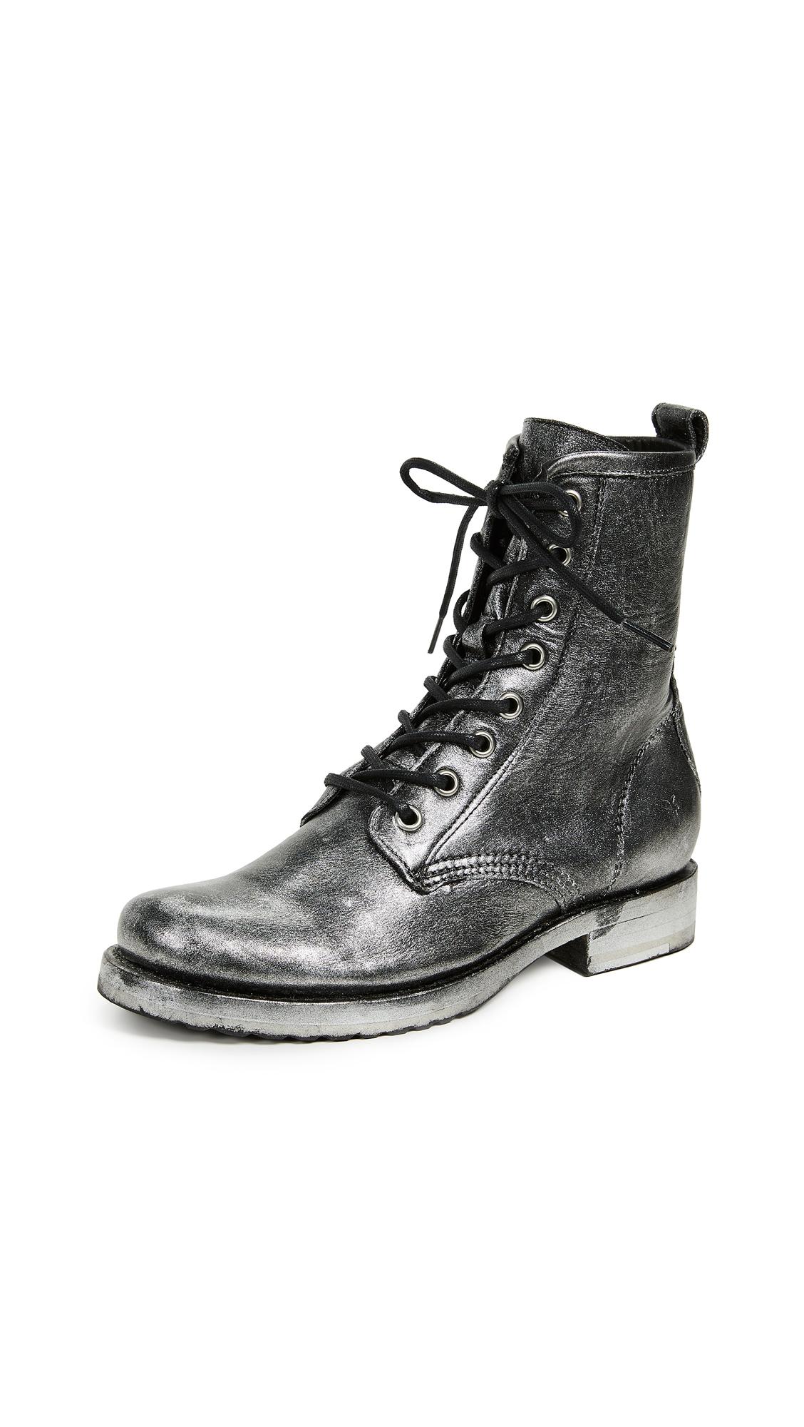 Frye Veronica Combat Boots - Black Multi