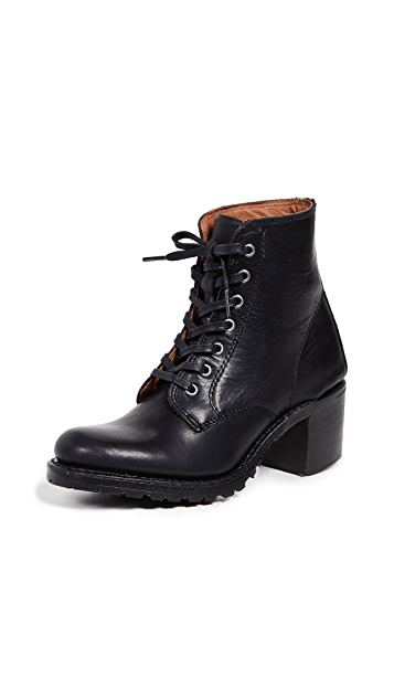 Photo of  Frye Sabrina 6G Lace Up Boots- shop Frye Boots, Flat online sales