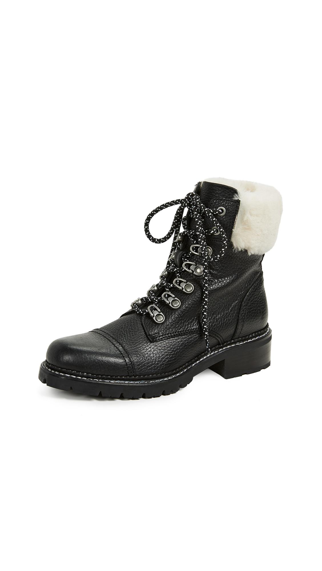 Frye Samantha Hiker Boots - Black